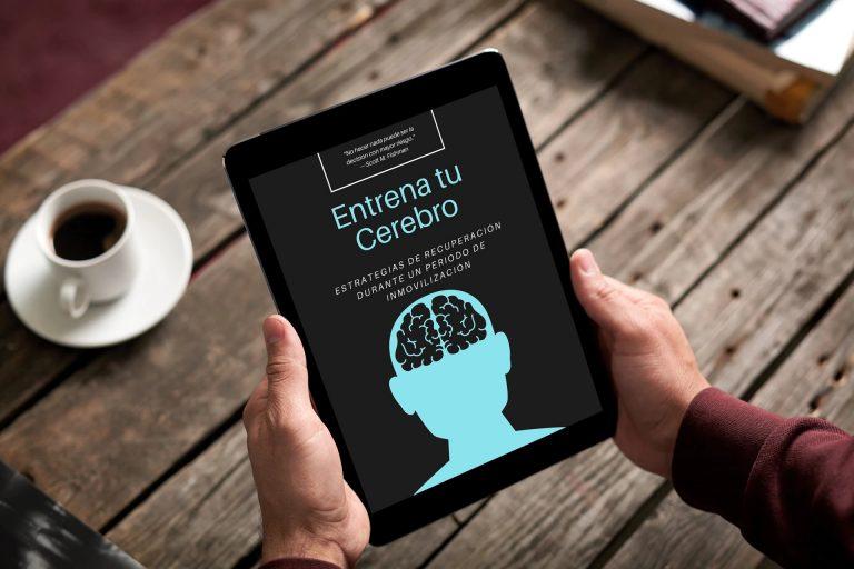 Entrena tu Cerebro es el único libro en español sobre los efectos de la inmovilización en el paciente y las estrategias de recuperación durante le mismo.